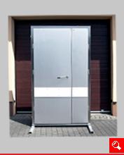 http://www.matchyra.pl-drzwi do chlodni zawiasowe dwuskrzydłowe ZC-2 nierdzewne z odbojnicą polietylenową