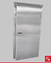 http://www.matchyra.pl-drzwi przemysłowe lekkie zawiasowe jednoskrzydłowe ZP-1 ze stali nierdzewnej