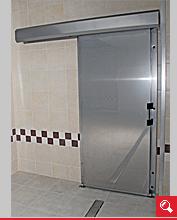 http://www.matchyra.pl - drzwi przemysłowe lekkie przesuwne  LP-1 ze stali nierdzewnej gat. 1.4301
