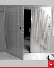 http://www.matchyra.pl-drzwi przemysłowe lekkie zawiasowe dwuskrzydłowe ZP-2 nierdzewne mazerowane