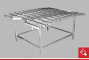 http://www.matchyra.pl- stół do podczyszczania ze stali nierdzewnej- nr katalogowy 3300.101