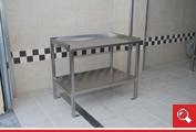 http://www.matchyra.pl - stół roboczy nierdzewny z dolną pólką i blatem z trzema rantami