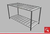 http://www.matchyra.pl - stół roboczy z pólka ażurową ze stali nierdzewnej gat. 1.4301